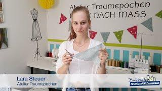 Nähaktion Wimpelkette: Umdrehen & Bügeln (Teil 4 von 5)