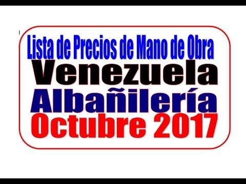 Precio de mano de obra de alba iler a octubre 2017 youtube - Materiales de construccion precios espana ...