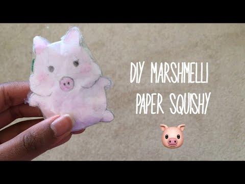 DIY Marshmelli Paper Squishy| Ketchup DIY