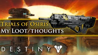 Destiny - Trials of Osiris New Flawless Loot, Changes and my thoughts!