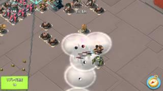 バズーカ兵での攻撃です。連射能力の低いブームキャノンとバリア発生機...