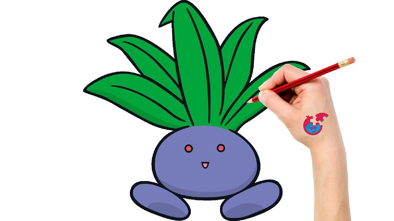How To Draw Pokemon Oddish For Toddlers - Learning Drawing - Puzzle ...