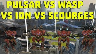Pulsar vs Wasp vs Ion vs Scourge | Best Medium Weapon? | War Robots Comparison Test WR