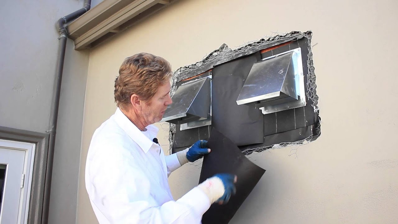 Waterproof stove pipe vents hoods or ductwork on exterior