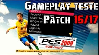Gameplay  PES 2009 Patch 16/17