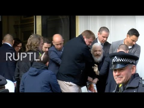 UK: Assange removed from Ecuadorian embassy ***WORLD EXCLUSIVE***