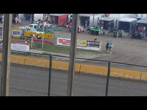 the national anthem at the Viking Speedway