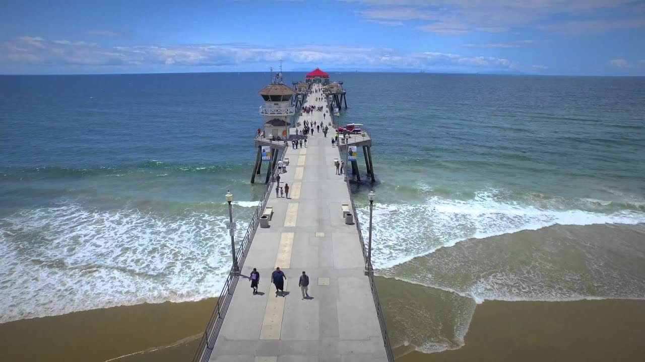 Huntington Beach Pier Aerial Video