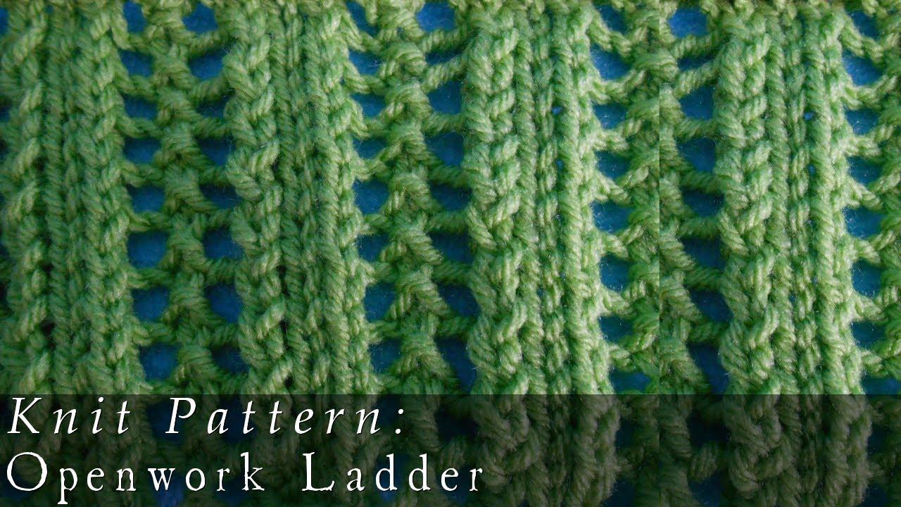 Openwork Ladders Pattern Knit Youtube
