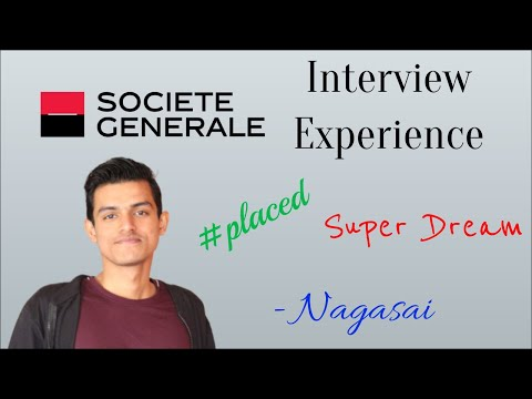 Societe Generale (SocGen) Interview Exp (SWE) 🔥🔥 Ft. Nagasai 😎🔥