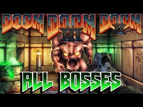 Doom 1 + 2 + 3 + DLC - All Bosses + Endings