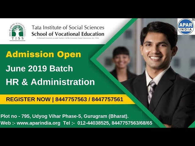 Post Graduation Diploma in HR & Administration | TATA Institute of Social Sciences | APAR India