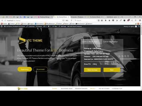 vtc theme  wordpress theme taxi theme   taxi plugin