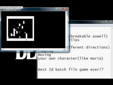 Best batch file 2d platform game ever made!
