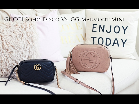 7f7e262e5ec4 Gucci Soho Disco Vs Gucci GG Marmont Mini Comparison | Dadouchic ...