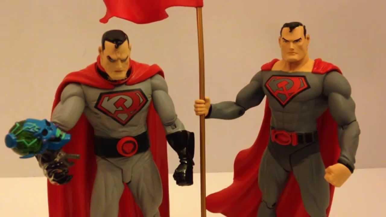 DC Universe Classics 1 Red Superman 1 Blue  Superman Action Figures