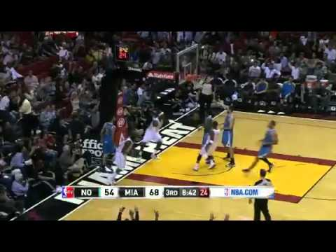 NBA December 8 2012: New Orleans Hornets vs Miami Heat Highlights