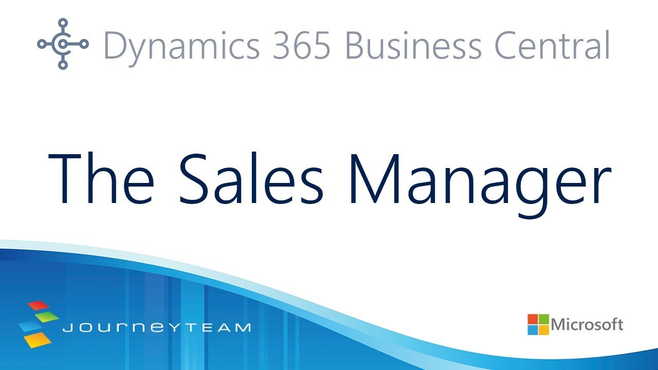 Microsoft Dynamics 365 Business Central Software for Sales Managers