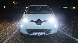 Renault Zoe: Nachtfahrt auf der Autobahn