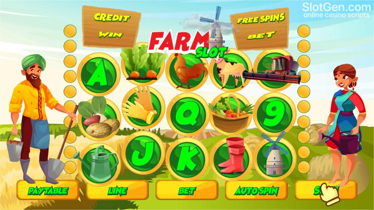 Farm Slots Themes Online
