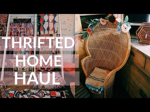 BUYING THRIFT STORE FURNITURE & DECOR + HAUL
