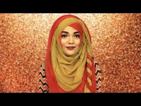 Pohela Falgun Hijab Style With Two Hijab ||Mutahhara♥️