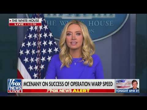 White House Press Secretary Kayleigh McEnany on President Trump's leadership to secure a vaccine