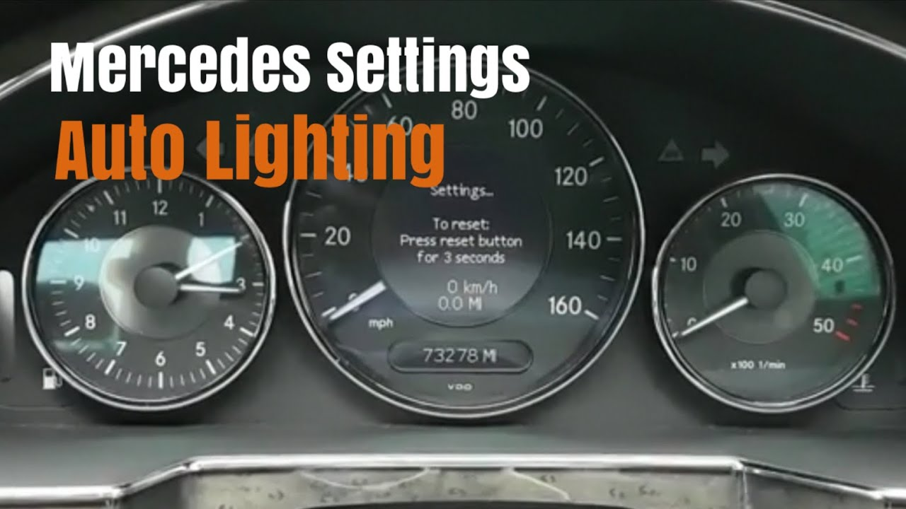 Mercedes Lighting Settings Auto Lights On and Off Menu