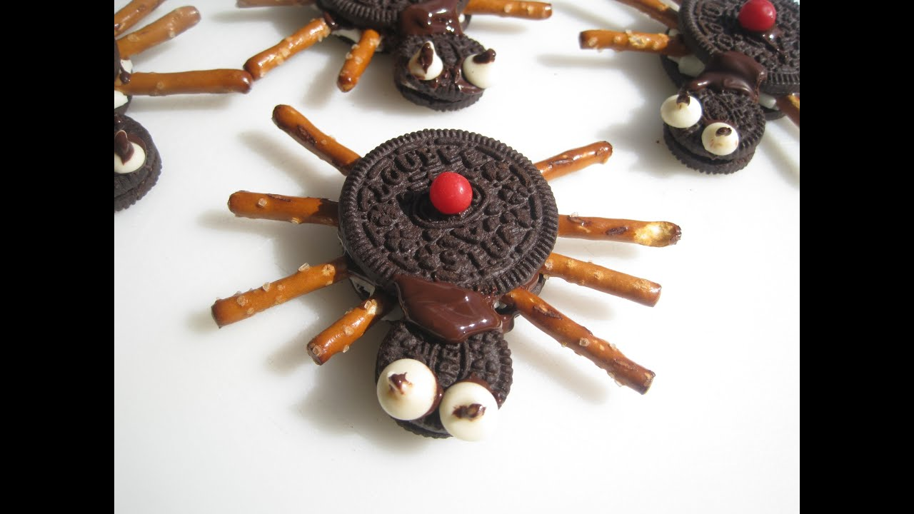 halloween edible black widow spiders how to make halloween treats snacks and party foods youtube - Edible Halloween Decorations