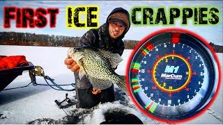 Fishing for First Ice Crappies - Northern Wisconsin