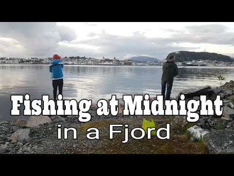 Fishing At Midnight In A Fjord