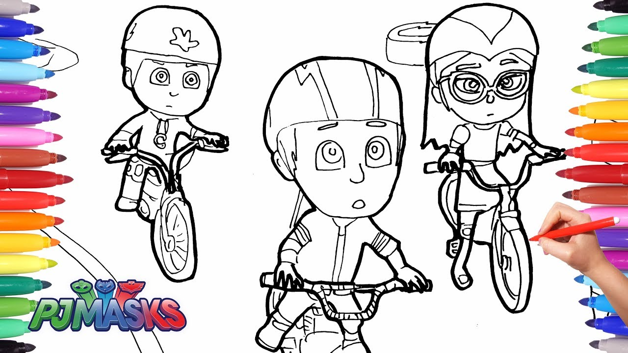 PJ MASKS Coloring Pages for Kids | How to Draw and Color ...