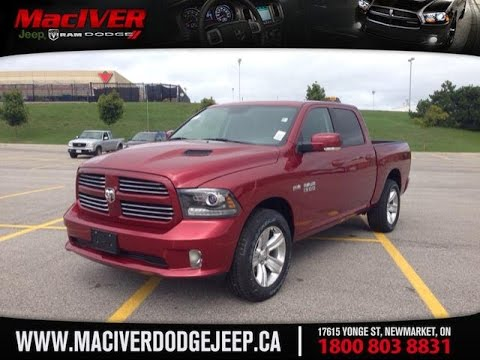 2014 red ram 1500 crew cab sport newmarket ontario maciver dodge jeep - 2014 Dodge Ram 1500 Lifted Red