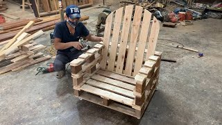 Ideas Woodworking Cheap From Pallet  Make a Simple Outdoor Chair From Old Pallets
