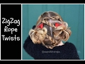 Rope Twist Hairstyle - Zigzag Twists