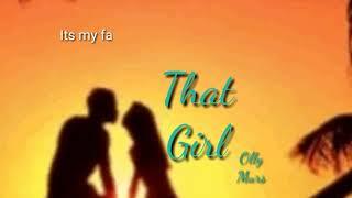 That Girl - Olly Murs (Lyrics) - Tik Tok Mp3