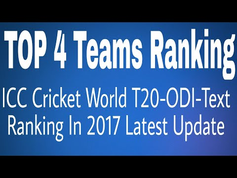 ICC Cricket Top 4 World Ranking Teams In ODI , Text Or T20
