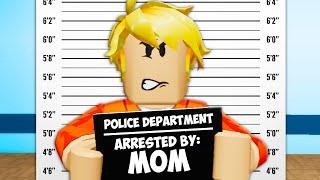 彼は彼のお母さんに逮捕されました! (Roblox Brookhaven RPムービー)