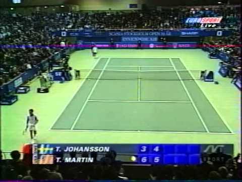 ATP Stockholm 1998 Martin vs Johansson Final