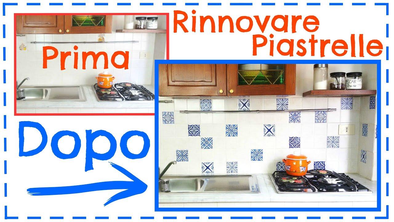 Cambiare look alle piastrelle con soli 20 euro diy facile for Adesivi mattonelle cucina