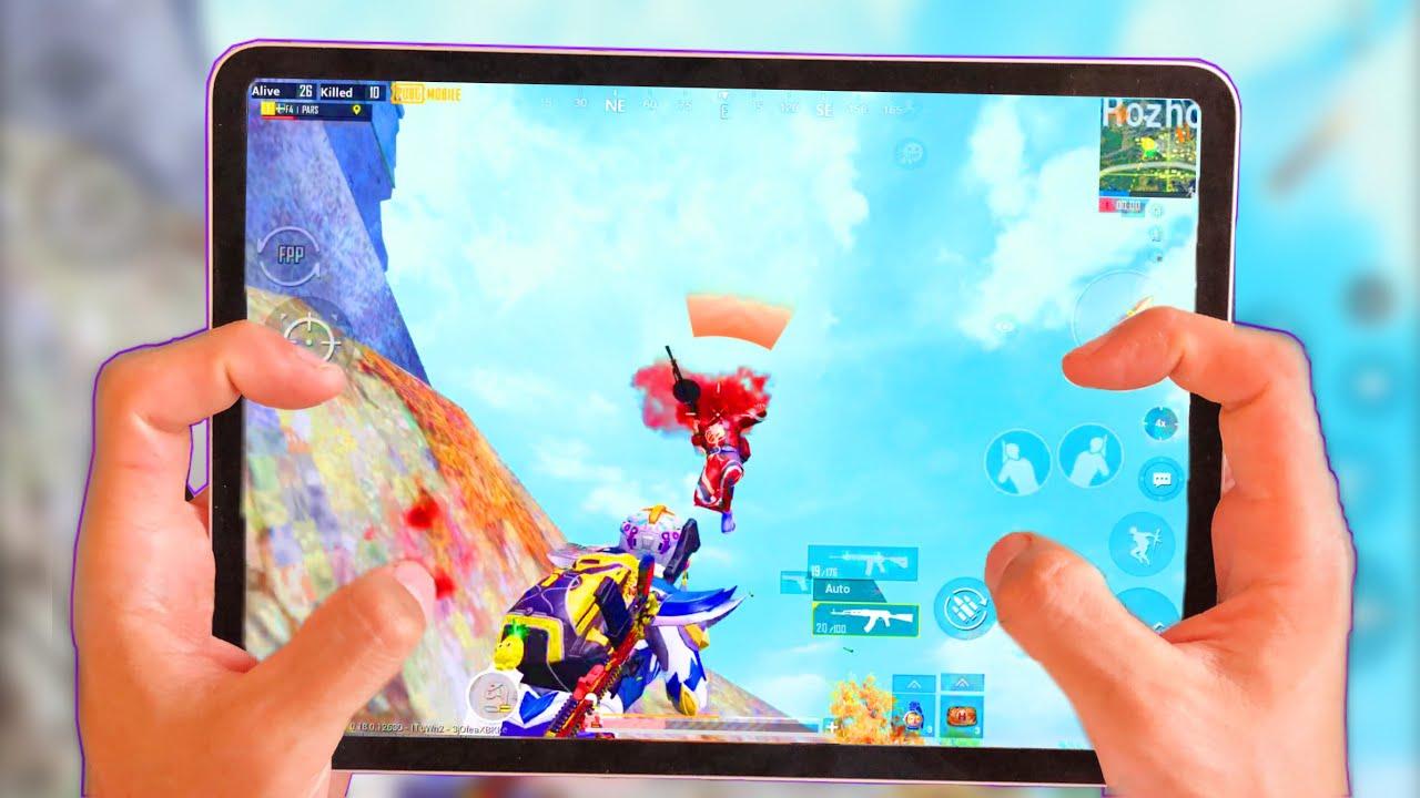 Ipad Pro 2020 Pubg 4 Finger + Full Gyroscope Gameplay