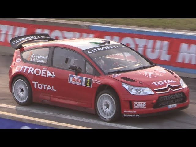 Citroën C4 WRC sound in action at Franciacorta & Milano Rally Show