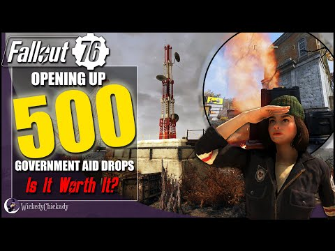 Opening 500 Government Aid Drops in Fallout 76 | What Did I Find | Is It Worth It | Rare Weapons