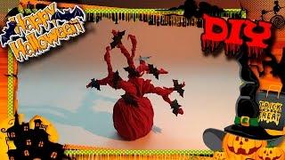 Halloween 2016. DIY 🎃👻🕷 Простые и легкие поделки на Хэллоуин для детей. Дерево/Tree(В этом видео я покажу как легко и просто сделать декорации на Хэллоуин для кукол своими руками. В этой..., 2016-10-25T09:00:02.000Z)