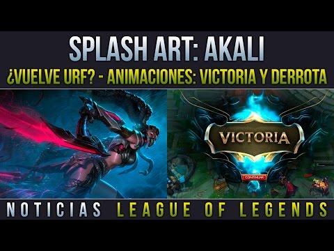 Noticias LOL | Splash Art: Akali Headhunter - ¿Vuelve URF? - Animaciones: Victoria y Derrota