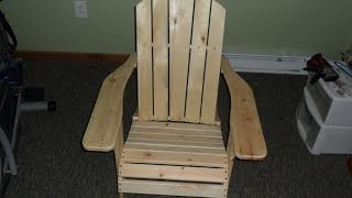 Adirondack Chair Recap