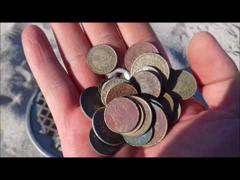 Пляжный коп 2014! первые советские монеты найденные на пляже.