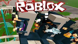 ROBLOX POINT THEME PARK ROLLER COASTER ROLEPLAY | RADIOJH GAMES