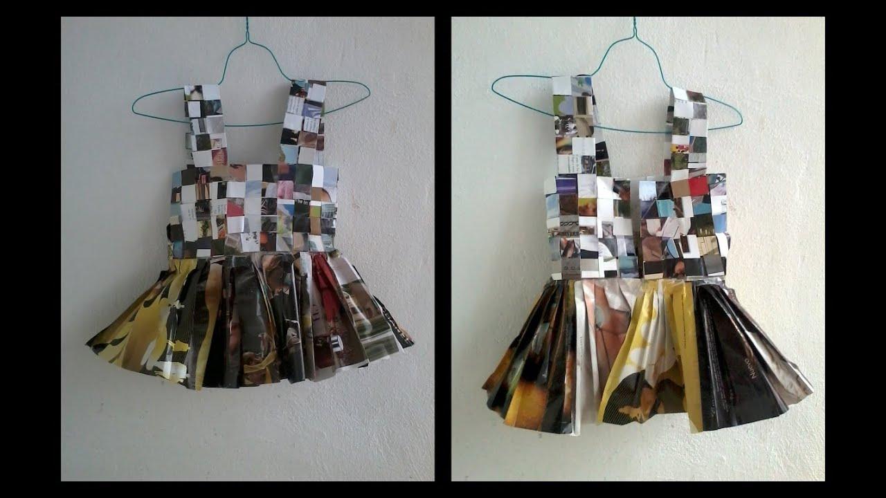 Cómo hacer un chaleco top de papel reciclado periódico revista paso ...