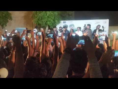 Dulquer Salman singing Nokki Nokki song @ Dubai Hyatt Regency